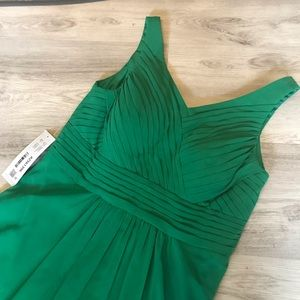 Azazie Pierrette Bridesmaid Gown Emerald Green